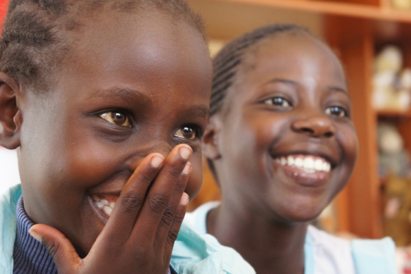 Girls from MissionThika laughing